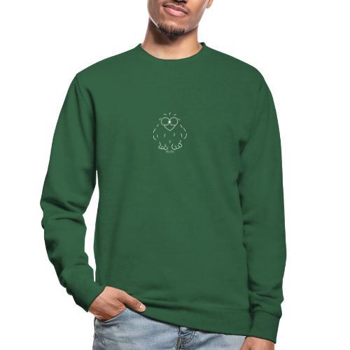 Niki Owl (blanco) - Unisex Sweatshirt