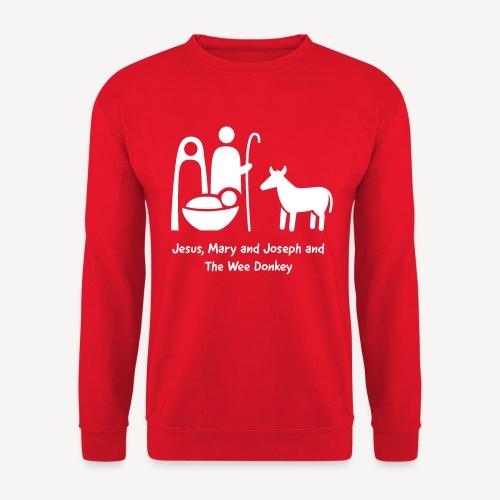 JESUS MARY AND JOSPEH AND THE WEE DONKEY - Unisex Sweatshirt