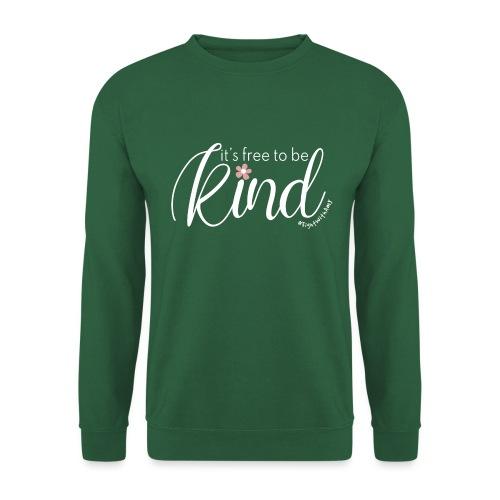 Amy's 'Free to be Kind' design (white txt) - Unisex Sweatshirt