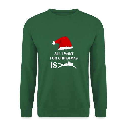 All I Want For Christmas Is Swim - Felpa unisex
