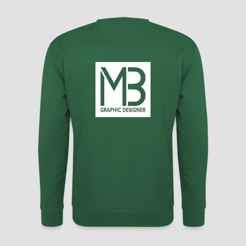 Logo MB Graphic Designer White - Felpa unisex