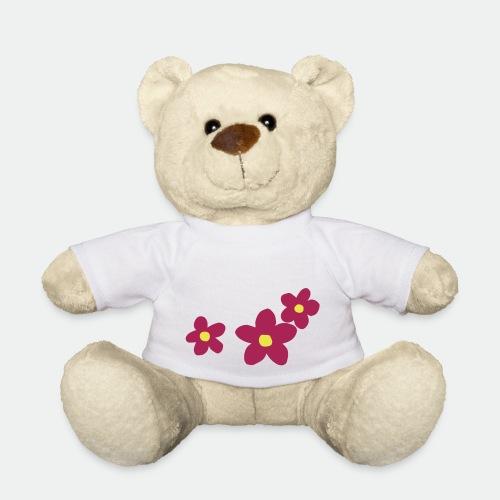 Three Flowers - Teddy Bear