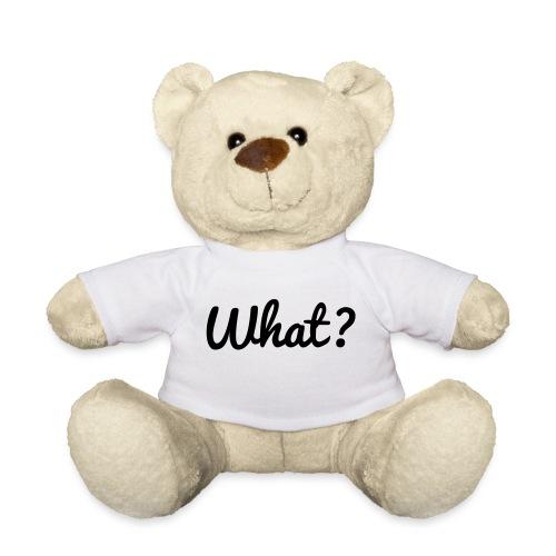 What? Logo - Teddy
