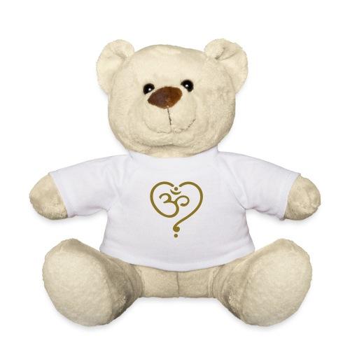 OM Symbol Herz Yoga Liebe Spiritualität Meditation - Teddy