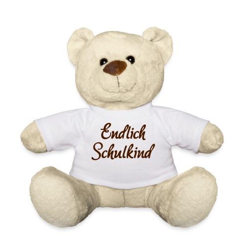 Endlich Schulkind, Schulanfang, Spruch - Teddy