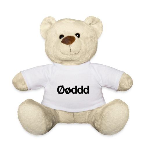 Øøddd (sort skrift) - Teddybjørn