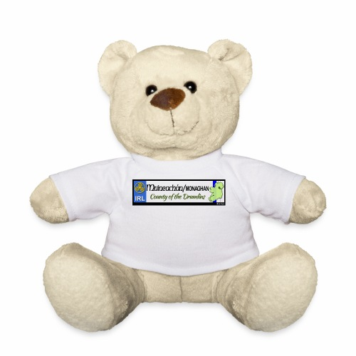 MONAGHAN, IRELAND: licence plate tag style decal - Teddy Bear