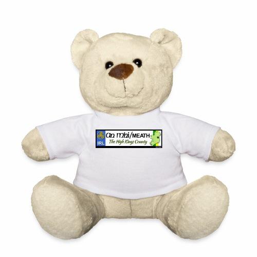 CO. MEATH, IRELAND: licence plate tag style decal - Teddy Bear