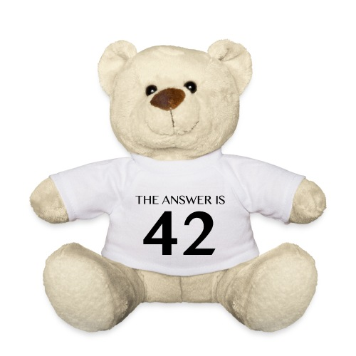 The Answer is 42 Black - Teddy Bear