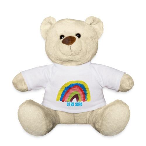 Stay Safe Rainbow Tshirt - Teddy Bear