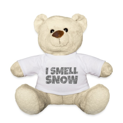 I Smell Snow (Dunkelgrau) Schnee, Wintersport, Ski - Teddy