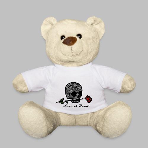 Love Is Dead Custom Skull Design - Teddy