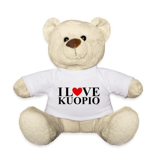 I LOVE KUOPIO (koko teksti, musta) - Nalle