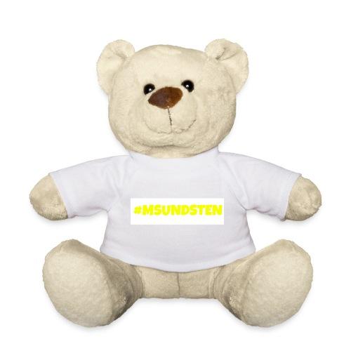 #Msundsten hvit - Teddybjørn