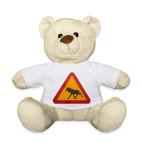 Warnschild Elch - Teddy