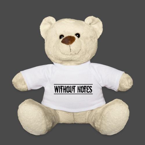 Without Notes Schriftzug Nummer 1 - Teddy