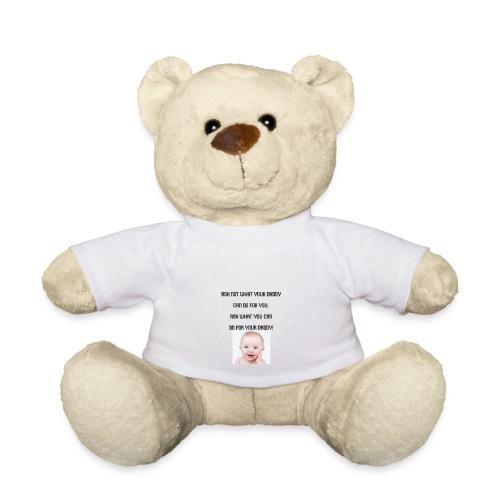 daddy tshirt sort tekst - Teddy Bear