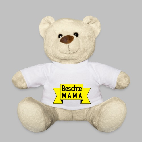 Beschte Mama - Auf Spruchband - Teddy
