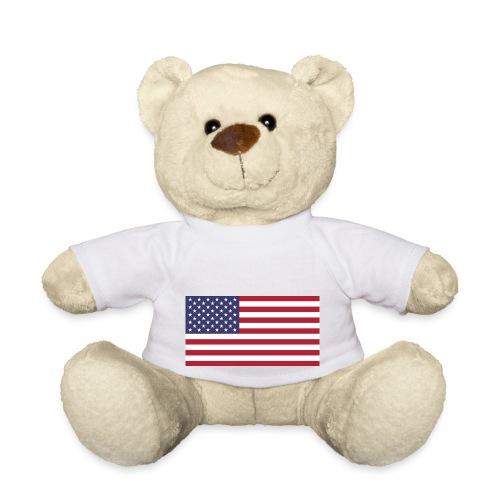 USA flagg - Teddybjørn