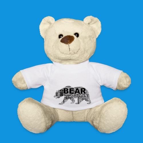Bear Word Cloud black text - Teddy Bear