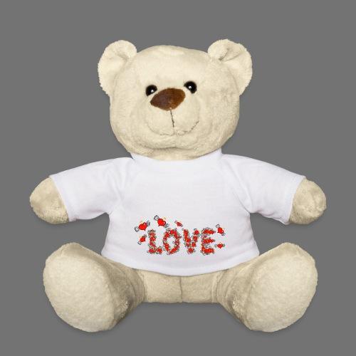 Fliegende Herzen LOVE - Teddy
