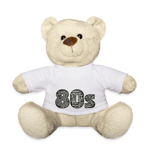 Cloud words 80s white - Teddy Bear