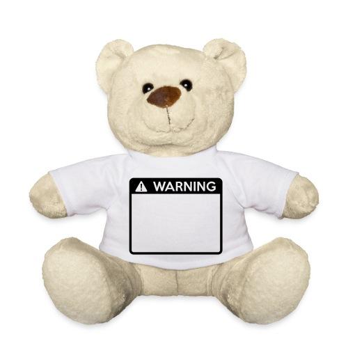 Warning Sign (1 colour) - Teddy Bear