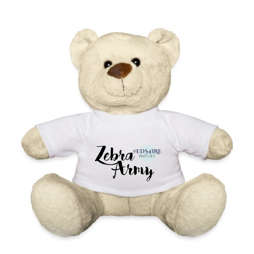 Zebra Army (black) - Teddy Bear