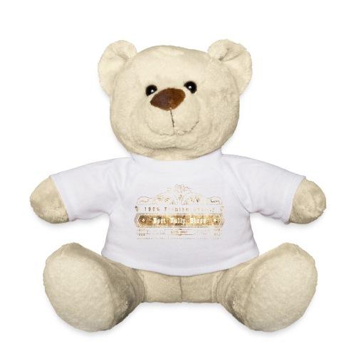 Dobro bester Vully Weinlese-Blau-Rost auf Weiß - Teddy