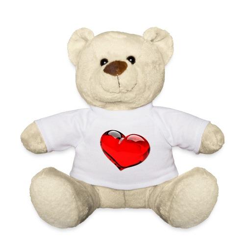 serce 3D - Miś w koszulce