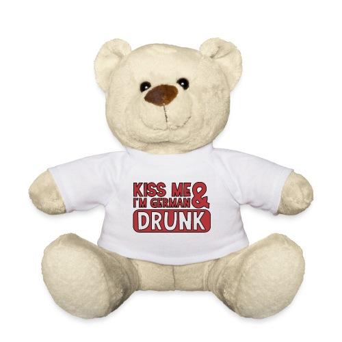 Kiss me I'm German & Drunk - Party Feiern Bier - Teddy