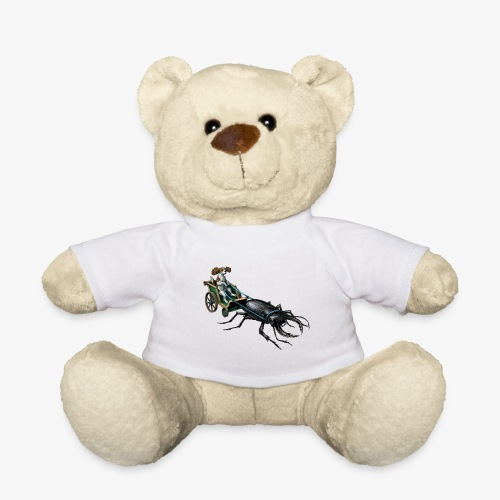 King Charles Spaniel with Stag beetle steed - Teddy Bear