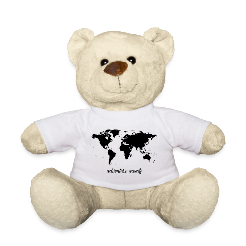 adventure awaits - Weltkarte - Teddy