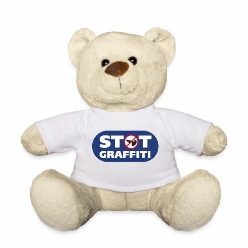støt graffiti - blk logo - Teddybjørn