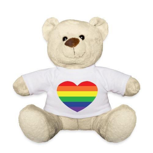 Rainbow heart - Teddy Bear
