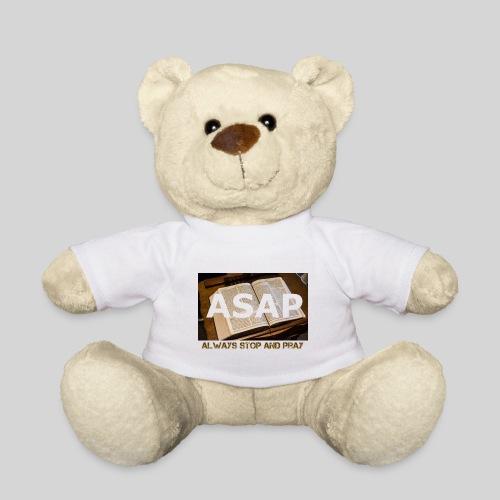 ASAP Always stop and pray auf einer Bibel - Teddy