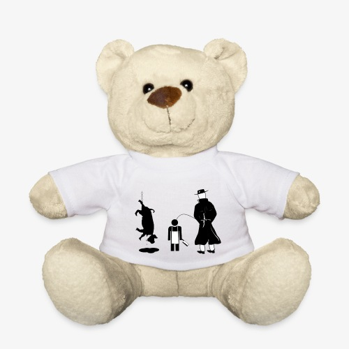 Pissing man against animal mass slaughtering. - Teddy