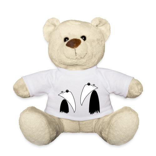 Raving Ravens - black and white 1 - Teddy Bear