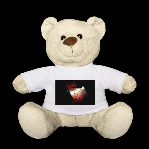 Space Triangles (red) - Teddy Bear