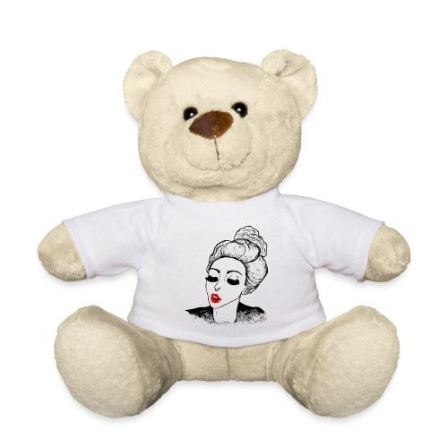Vintage Retro Girl Kiss message - Teddy Bear