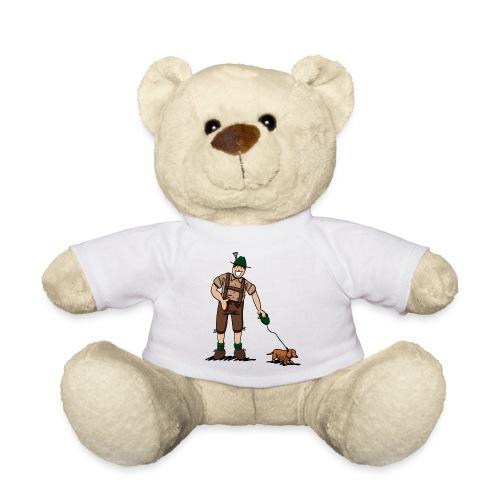 Bayer in Lederhosen mit Dackel - Teddy