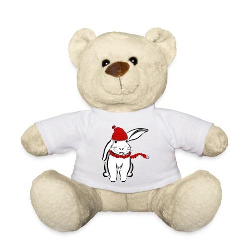 Kaninchen Hase Mütze Schal Schlappohr Schneehase - Teddy