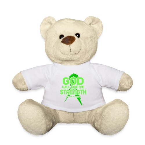 Scoliosis God will Give Me Strength! Ribbon - Teddy Bear