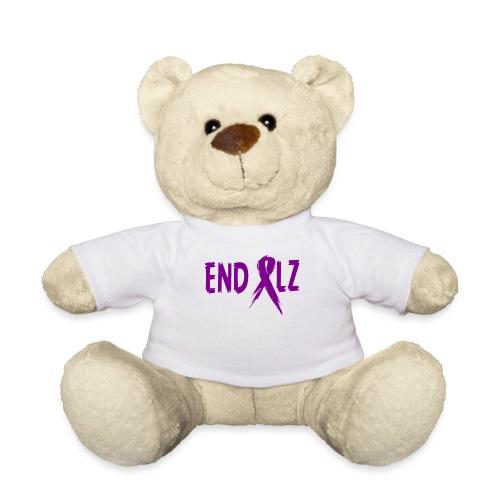 Alzheimer's END ALZ Awareness Ribbon - Teddy Bear