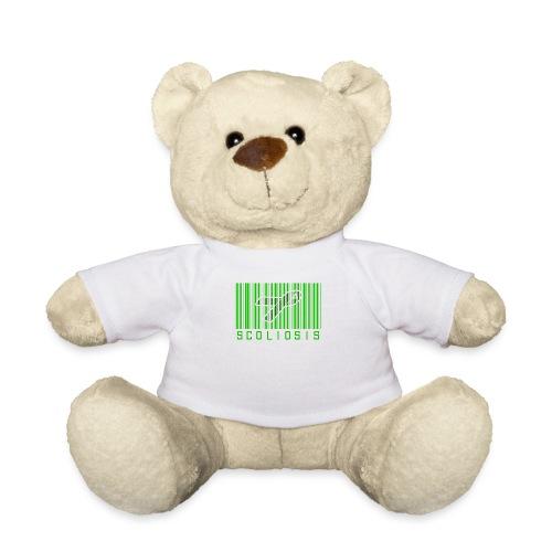 Scoliosis Bar code Awareness Ribbon - Teddy Bear