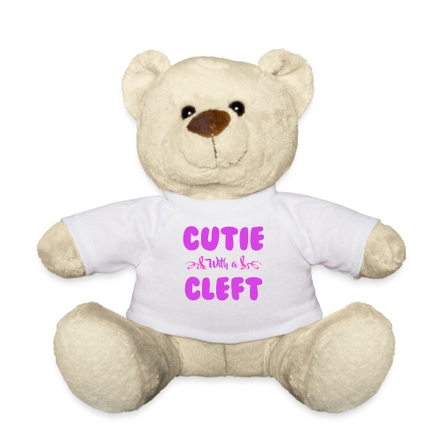 Cutie with a Cleft Pink Ribbon Awareness - Teddy Bear