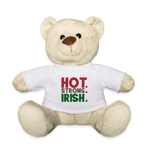 hot strong irish - irish beer party drunk - Teddy Bear