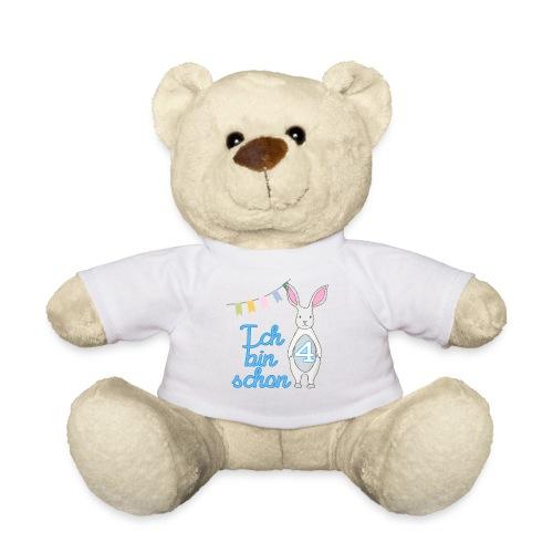 Ich bin schon 4 / Geschenk zum 4. Geburtstag. - Teddy