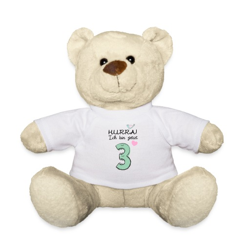 Hurra ich bin jetzt 3 / Geschenk zum 3. Geburtstag - Teddy