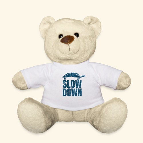 Slow Down witzige coole Schildkröte Keep Calm kein - Teddy